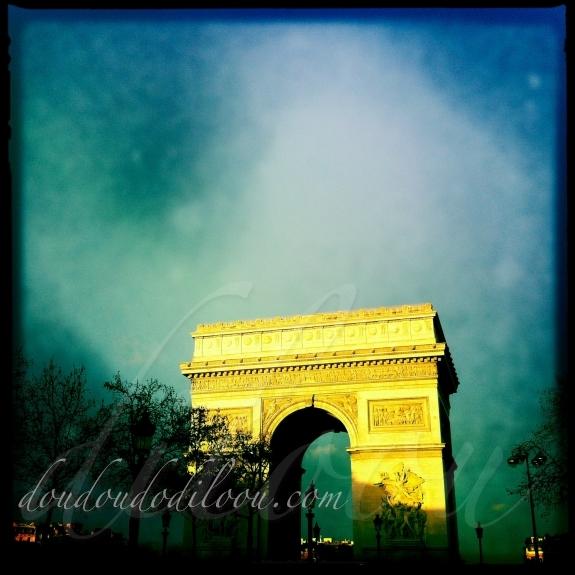 Arc de Triomphe lumière de décembre