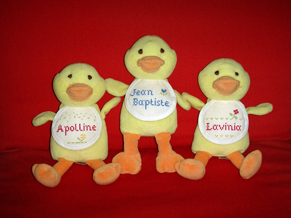 doudoudodiloou.com - canetons pour Apolline, Jean-Baptiste et Lavinia