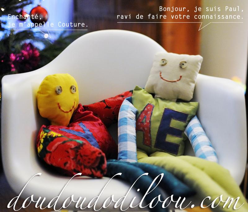 doudoudodiloou.com - Paul et Couture confortablement installés dans un Eames rocking chair