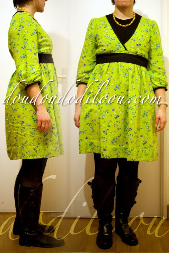 robe japancouture tuniques robes etc modèle M - de face et de profil