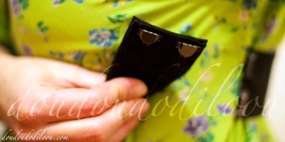 robe japancouture tuniques robes etc modèle M - detail de l'attache