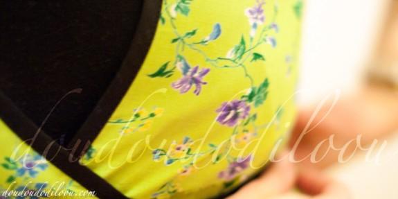 robe japancouture tuniques robes etc modèle M - detail du cache-coeur