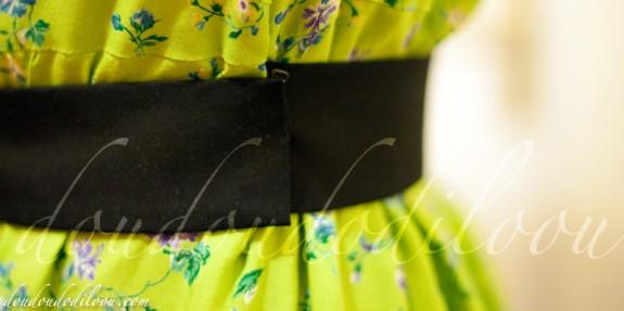 robe japancouture tuniques robes etc modèle M - detail de la ceinture