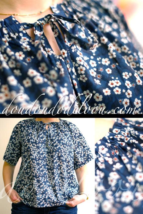 Carnets Coutures Ma Petite Garde-Robe Modèle P Tissu Liberty Mitsi doudoudodiloou
