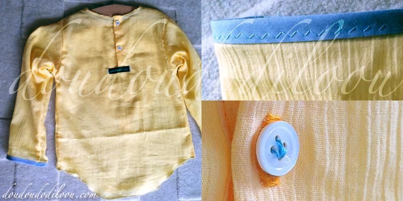 Chemise de Grand-Pere Boys And Girls Carnets De Couture JapanCouture details dos